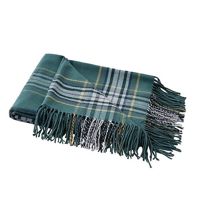 Alternate image 1 for Boston Traders® Providence Plaid Throw Blanket in Green