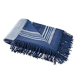 Boston Traders® Leo Striped Throw Blanket in Blue Grey
