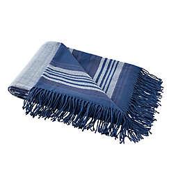 Boston Traders® Leo Striped Throw Blanket in Blue Grey