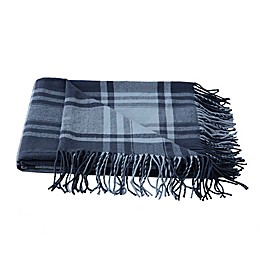 Boston Traders® Vanilla Ice Plaid Throw Blanket in Navy