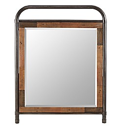 INK+IVY Renu 43-Inch x 36-Inch Rectangular Wall Mirror in Brown