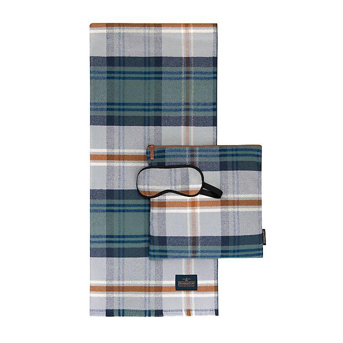 Alternate image 1 for Pendleton® Mosier Plaid 3-Piece Travel Set in Green