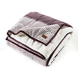 UGG® Serene Reversible Striped 12 lb. Weighted Throw Blanket in Port