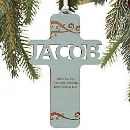 Bless This Child Personalized Wood Ornament Collection
