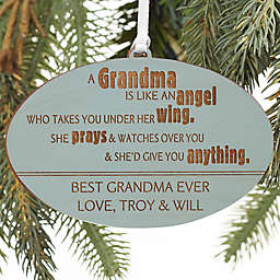 Wonderful Grandma Personalized Wood Ornament Collection