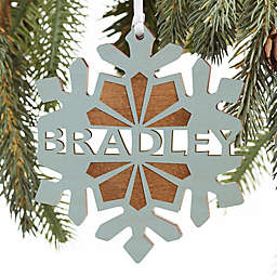 Special Someone Personalized Wood Ornament in Blue Stain