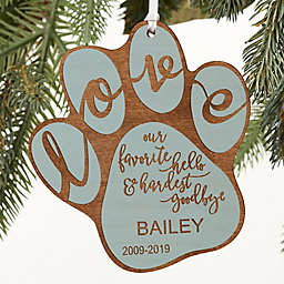 Hardest Goodbye Pet Memorial Personalized Ornament Collection