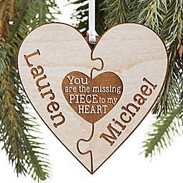 Perfect Match Personalized Wood Ornament Collection