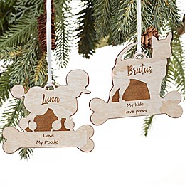 Dog Breed Personalized Wood Ornament Collection