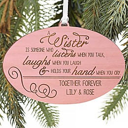 Special Sister Personalized Wood Ornament Collection