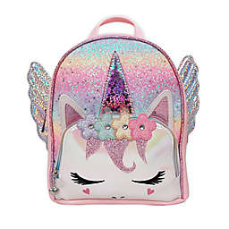 OMG Accessories Pegasus Flower Crown Miss Gwen Pink Ombre Glitter Mini Backpack