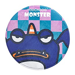 Touchdog Crabby Tooth Monster Polyester Cat and Dog Mat in Navy