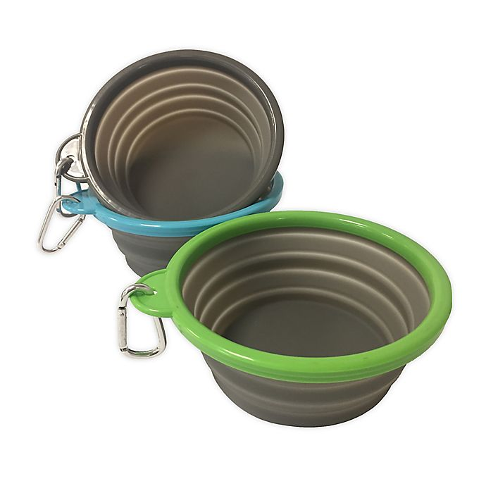 Alternate image 1 for Pawslife™ 33 oz. Collapsible Pet Bowl in Grey