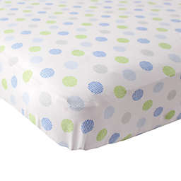 Luvable Friends® Crosshatch Fitted Crib Sheet in Blue