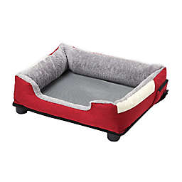 Pet Life Dream Smart Medium Heating and Cooling Pet Bed in Red