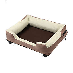 Pet Life Dream Smart Large Heating and Cooling Pet Bed in Brown