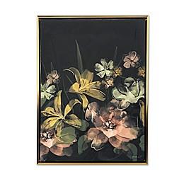 "GreenBox ""Midnight Bloom"" Framed Canvas Wall Art"