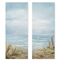 Wadou Beach Grass Ocean 16-Inch x 20-Inch Wrapped Canvas (Set of 2)