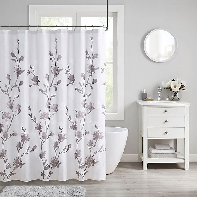 Alternate image 1 for Madison Park Magnolia Shower Curtain