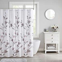 Madison Park Magnolia Shower Curtain in Purple