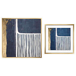 PTM Images Gold and Blue Framed Wall Art Collection
