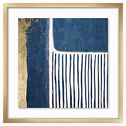 PTM Images Gold and Blue 22-Inch Square Framed Wall Art