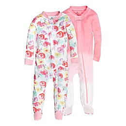 The Honest Company® 2-Pack Rose Blossom Organic Cotton Footed Pajamas