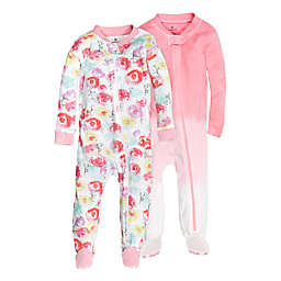 The Honest Company® Size 24M 2-Pack Rose Blossom Organic Cotton Footed Pajamas