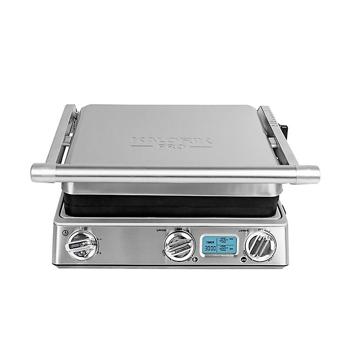 Alternate image 1 for Kalorik® Pro Digital 6-in-1 Contact Grill & Panini Press