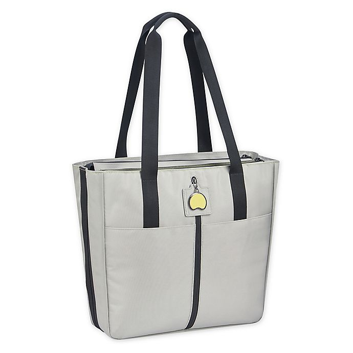 Delsey Paris Dailys Ladies Tote With 14 Inch Laptop Sleeve In Grey Bed Bath Beyond