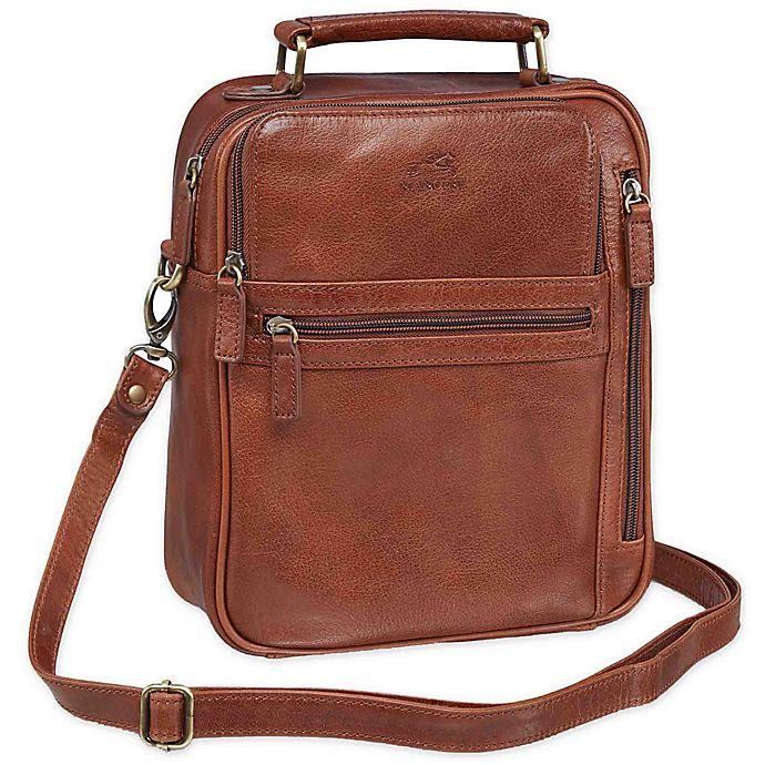 Alternate image 1 for Mancini Arizona Single Section Large Unisex Leather Bag