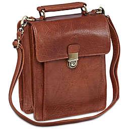 Mancini Arizona Unisex Leather Bag with Rear Organizer