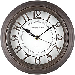 Sterling & Noble™Raised Arabic Grill Round 10-Inch Wall Clock in Bronze