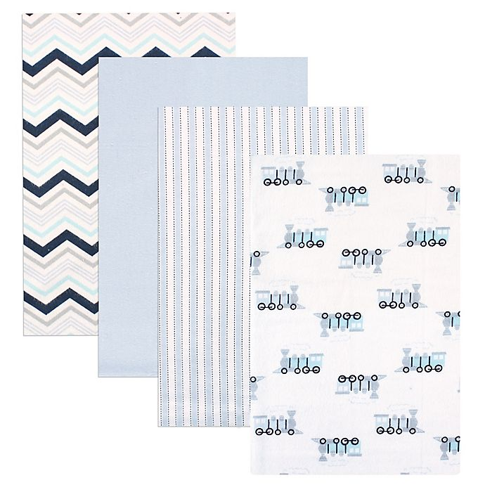 Alternate image 1 for Luvable Friends® 4-Pack Flannel Receiving Blankets