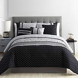 VCNY Home Art Deco Metallic 7-Piece Comforter Set