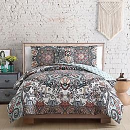 VCNY Home Daya Reversible Comforter Set in White/Blue