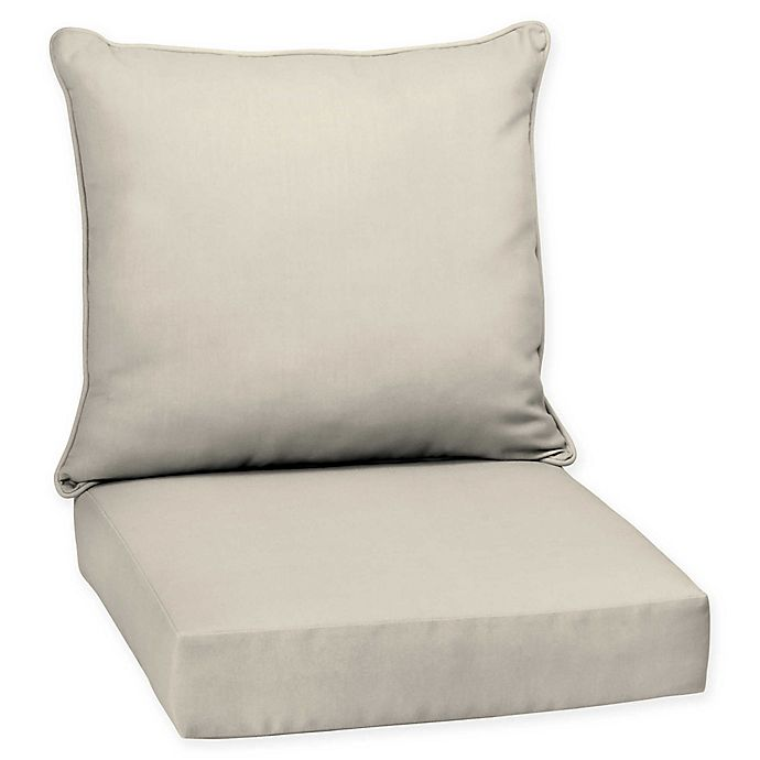 Solid Outdoor Deep Seat Chair Cushions