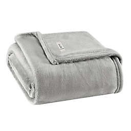 Solid Ultra Soft Plush Full/Queen Blanket in Fossil