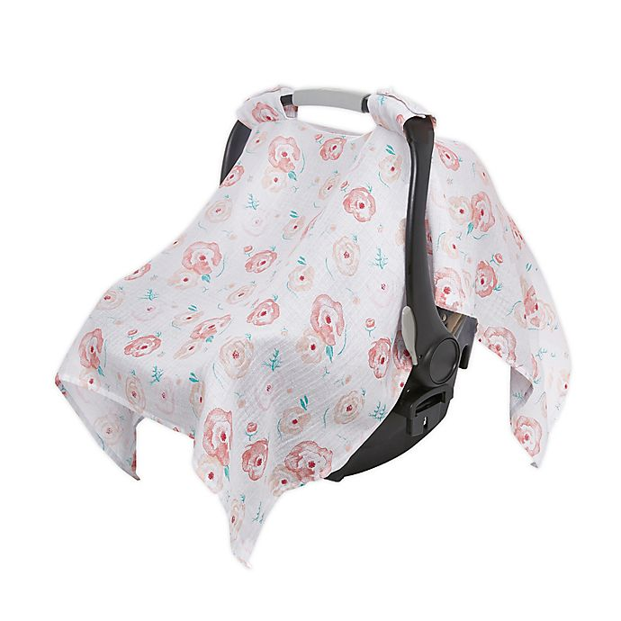 Alternate image 1 for aden + anais™ essentials Car Seat Canopy in Pink Floral