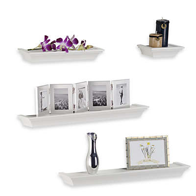 Melannco 4-Piece Ledge Set in White