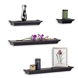 Melannco 4-Piece Ledge Set in Black