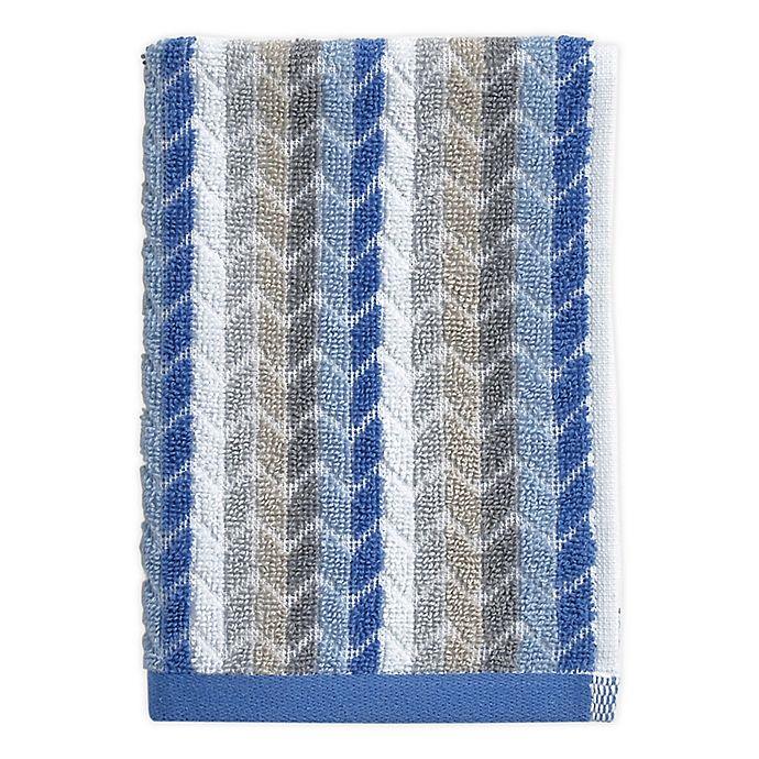 Alternate image 1 for Chevron Tile Fingertip Towel