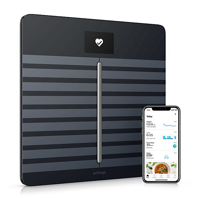 Alternate image 1 for Withings Body Cardio/Body Composition Heart Rate & Wi-Fi Smart Scale with App in Black