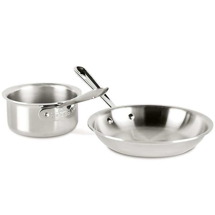 Alternate image 1 for All-Clad D3 3-Ply 1.5 qt. Stainless Steel 2-Piece Cookware Set