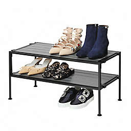 Seville Classics 2-Tier Iron Stackable Shoe Storage Rack