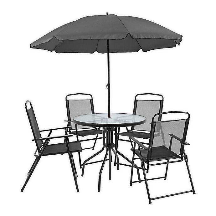 Outdoor Patio Table Set With Umbrella