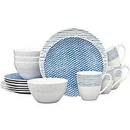 Noritake® Blue Hammock 16-Piece Coupe Dinnerware Set