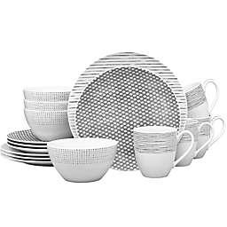 Noritake® Grey Hammock 16-Piece Coupe Dinnerware Set