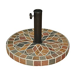 Destination Summer Decorative Stone Umbrella Base in Bronze