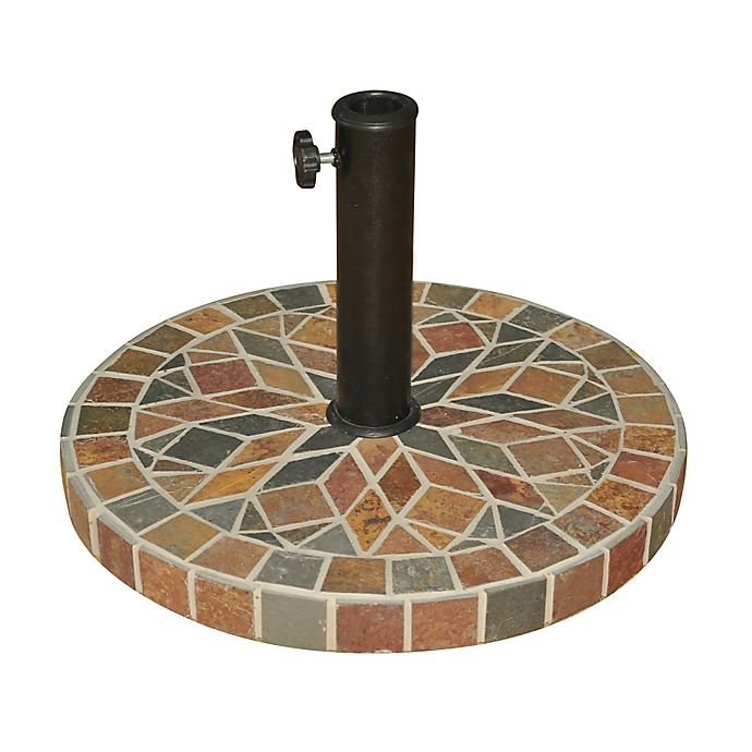 Alternate image 1 for Destination Summer Decorative Stone Umbrella Base in Bronze